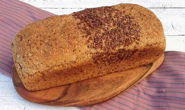 Organic Milled Flax Unsliced Bread