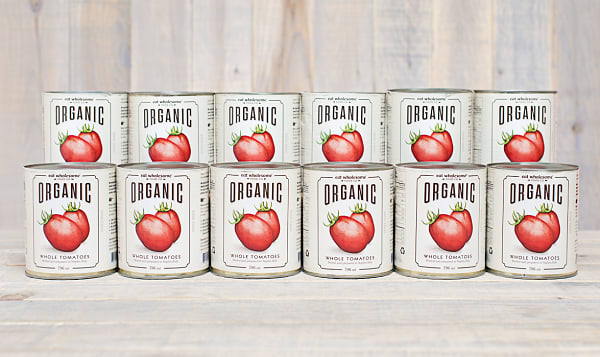 Organic Whole Tomatoes - CASE
