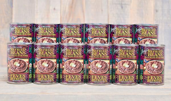 Organic Refried Black Beans - BPA Free - CASE
