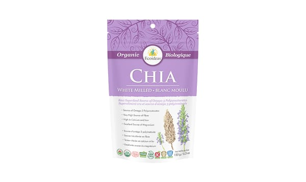 Organic White Chia Seeds - Cold Milled