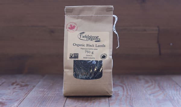 Organic Western Canadian Whole Black Beluga Lentils