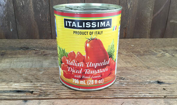 Italian Unpeeled Diced Plum Tomatoes