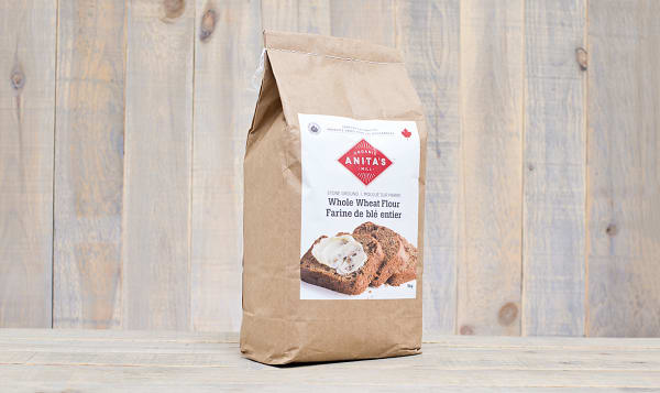 Organic Stoneground Whole Wheat Flour - Fine Grind