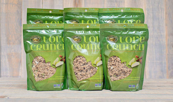 Organic Love Crunch Granola - Apple Crumble - CASE