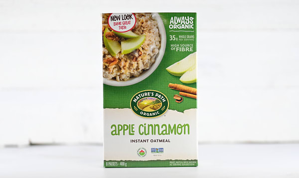 Organic Apple Cinnamon Instant Hot Oatmeal