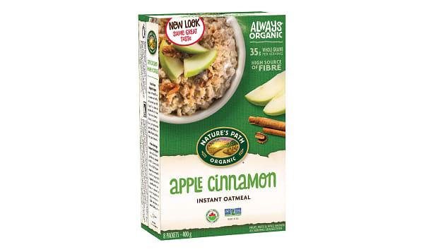 Organic Apple Cinnamon Instant Hot Oatmeal