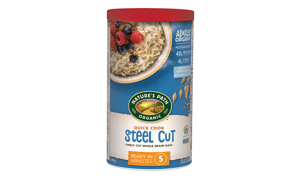 Organic Quick Cooking Steel Cut Oats (Irish Style)