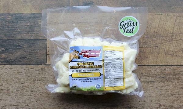 Organic Cheddar Cheese Curd