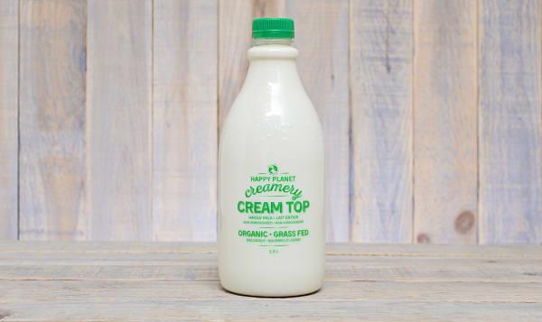 Organic Grass Fed Cream Top Whole Milk