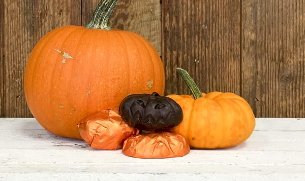 Organic Halloween Chocolate Pumpkin