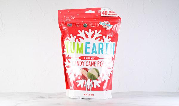 Organic Candy Cane Pops