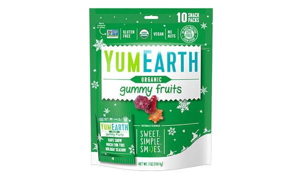 Organic Holiday Gummy Fruits - 10pk