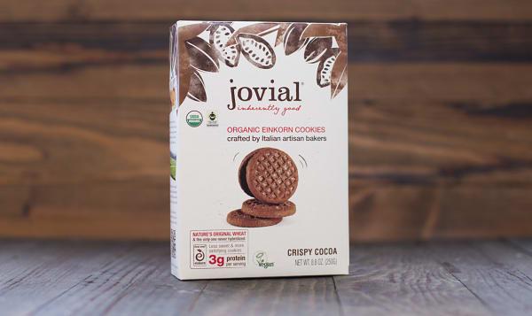Organic Crispy Cocoa Cookies