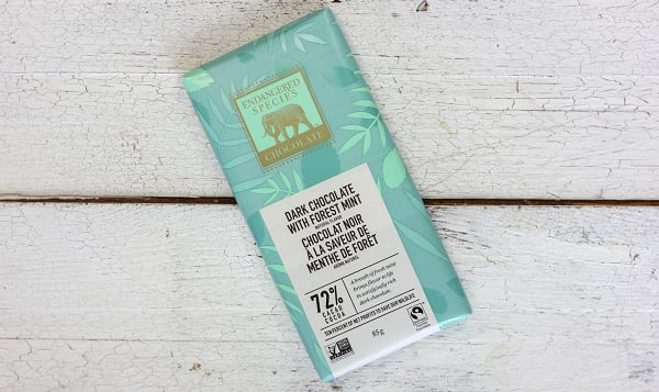 Dark Chocolate with Deep Forest Mint (Rainforest Bar)
