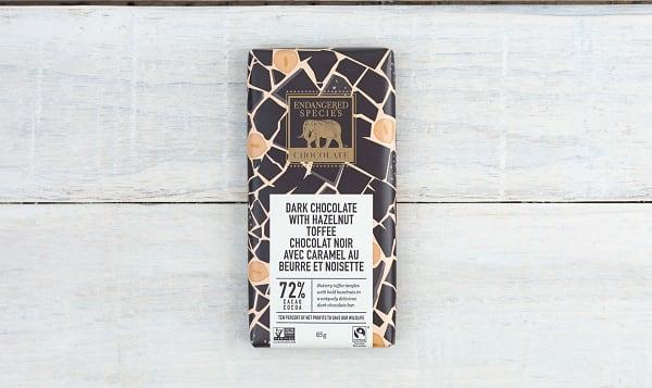 Dark Chocolate with Hazelnut Toffee 72% Cocoa