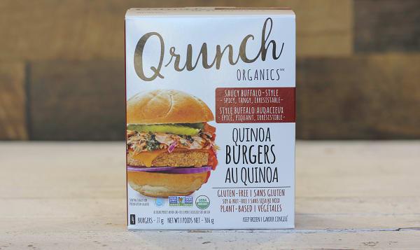Organic Quinoa Bugers Saucy Buffalo
