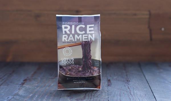 Forbidden Rice Ramen with Miso Soup