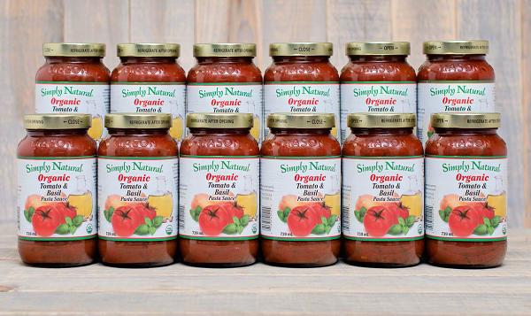 Organic Tomato & Basil Pasta Sauce - CASE