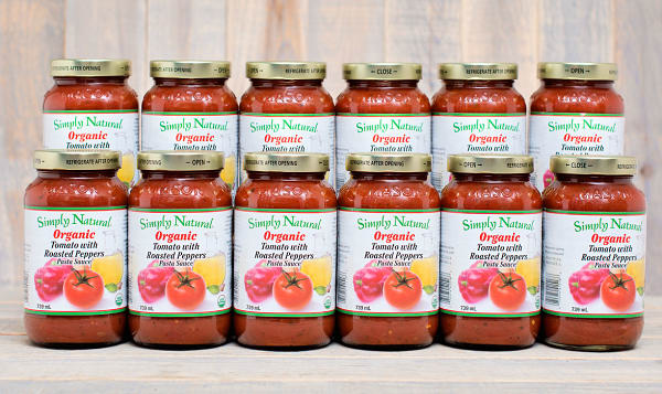 Organic Tomato w/roasted peppers Pasta Sauce - CASE
