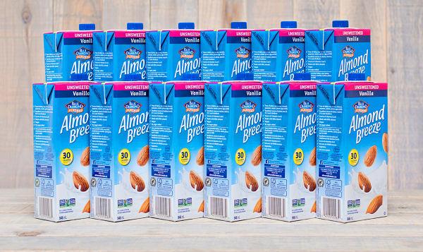 Almond Breeze - Unsweetened Vanilla - CASE