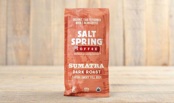 Organic Sumatra Dark Roast Coffee, Whole Bean
