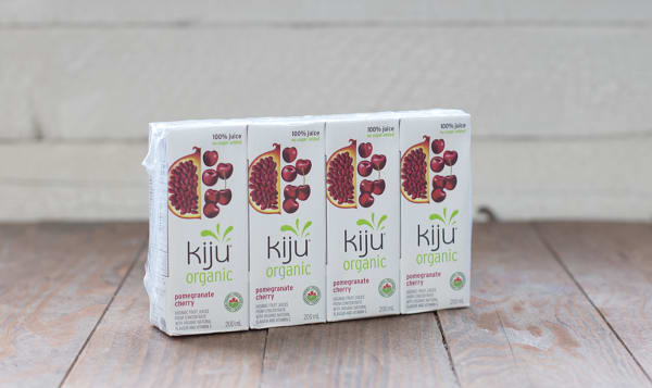 Organic Pomegranate Cherry Juice Boxes