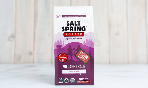 Organic Village Trade Dark Coffee, Ground