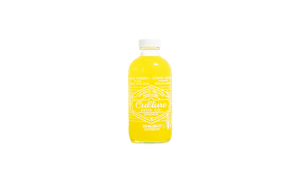 Lemon Turmeric Ginger Kefir Water