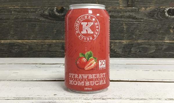 Organic Strawberry Hibiscus Ginger Kombucha