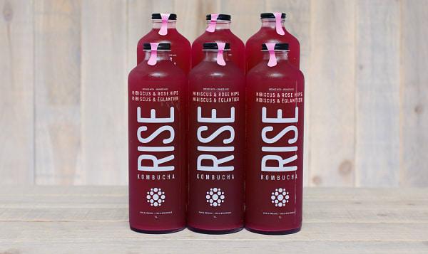 Organic Hibiscus Rose Hips Kombucha - CASE