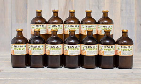 Organic Lemon Ginger Cayenne Kombucha - CASE