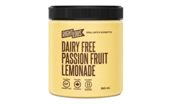 Passion Fruit Lemonade Sorbetto (Frozen)
