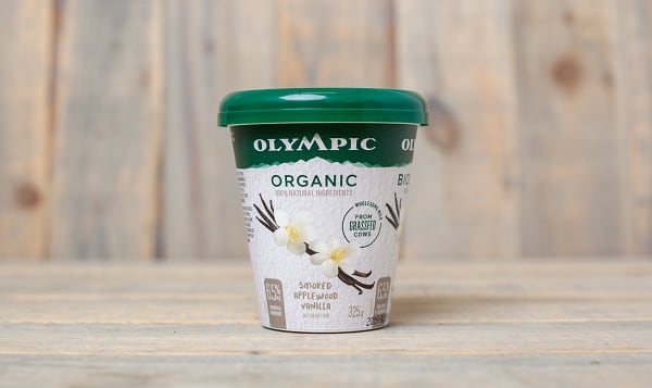 Organic Grass Fed Smoked Applewood Vanilla Yogurt 6.5% MF
