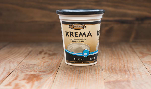 Krema Greek Style Plain Yogurt - 11% MF