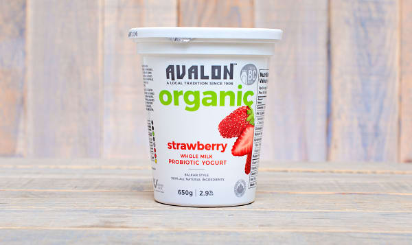 Organic Strawberry Yogurt - 2.6% MF