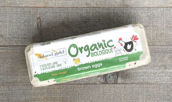 Organic Certified Free Range Brown Eggs