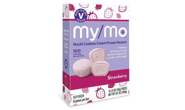 Dairy-Free Strawberry Mochi Ice Cream (Frozen)