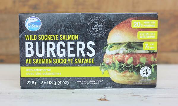 Wild Sockeye Salmon Burger with Edamame (Frozen)