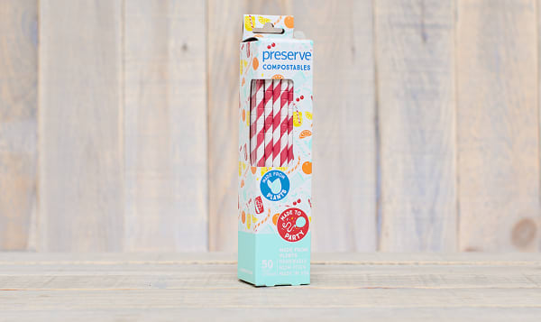 Compostable Straws - Red