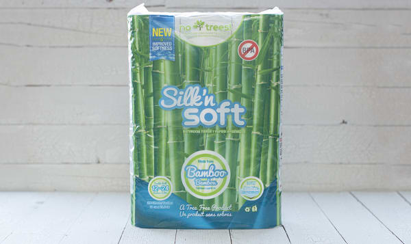 Silk\'n Soft Bamboo Toilet Paper, 12 rolls /190 sheets | Shop at SPUD.ca