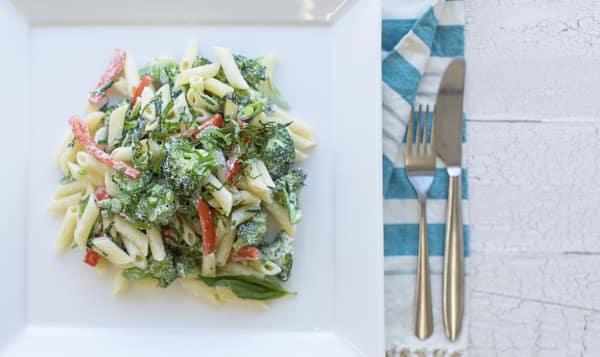 Creamy Garden Vegetable Pasta Dinner
