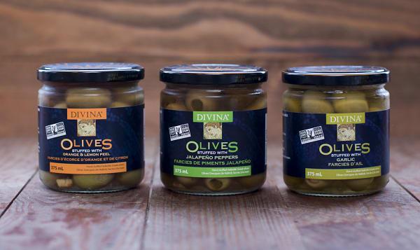 Divina Stuffed Olive Trio