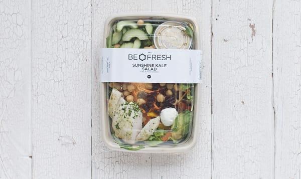 Sunshine Kale Salad with Free Run Chicken