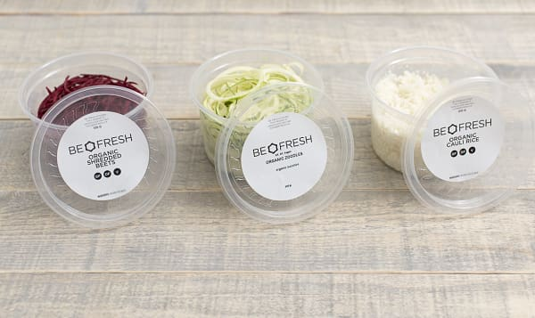 Organic Trio of Zoodles, Beets, and Cauli-Rice