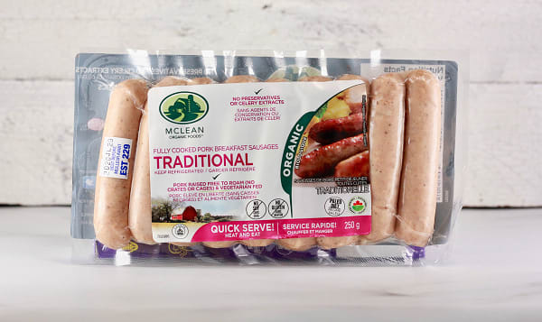 Organic Traditional Breakfast Sausages