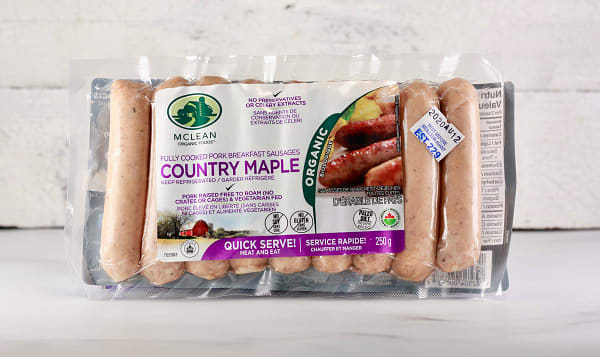 Organic Country Maple Breakfast Sausages