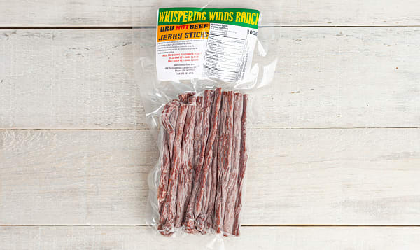 Dry Beef Jerky Sticks - Hot (Frozen)