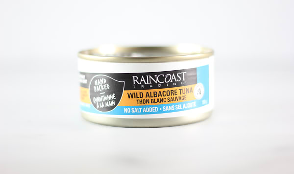 Canned Solid White Albacore Tuna - NO SALT ADDED