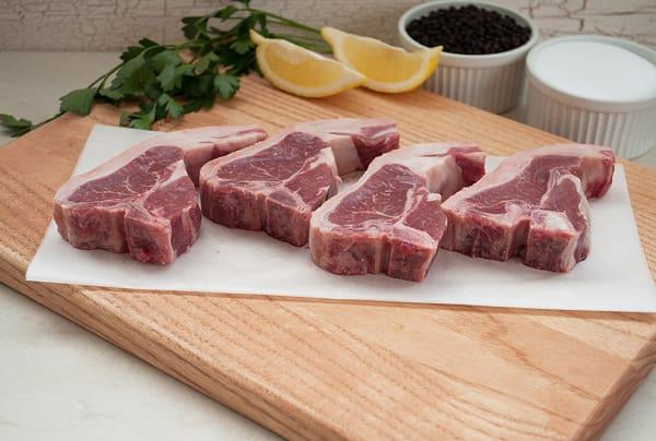 Lamb Loin Chops (Short Loin T-Bone) (Frozen)
