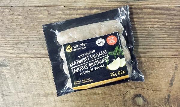 Bratwurst Salmon Sausages (Frozen)